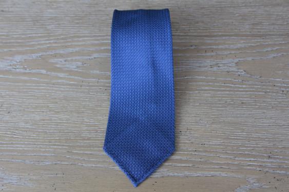 Cravatta in seta grenadine colore zaffiro 17775