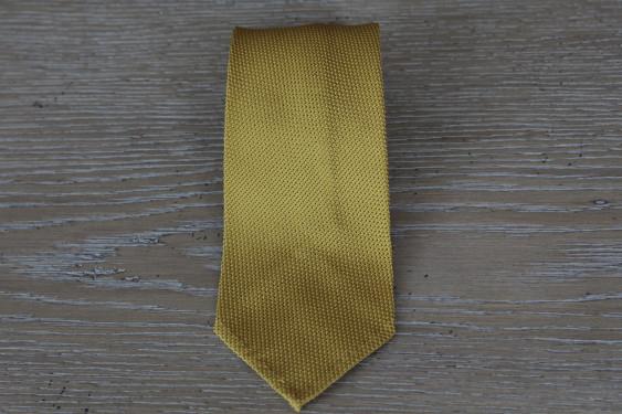 Silk tie grenadine yellow mustard
