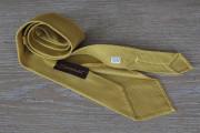 Cravatta in seta grenadine colore giallo senape 17777