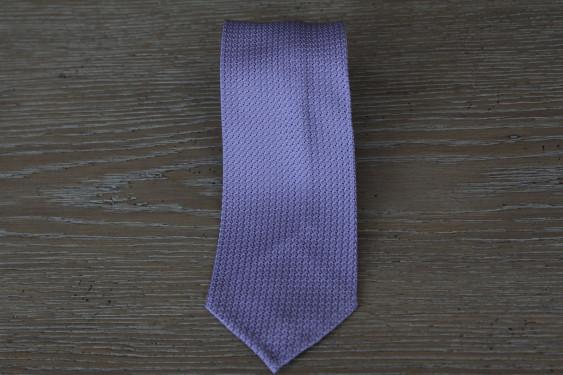 Cravatta in seta grenadine colore glicine 17779