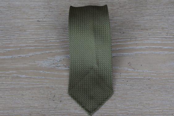 Cravatta in seta grenadine colore verde bottiglia 17794