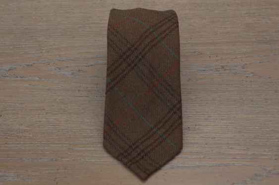Checked tie brown colour 17797