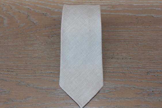 Cravatta in lino color corda 17835