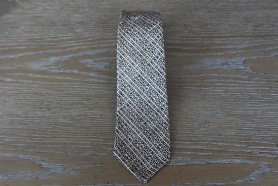 Cravatta in lana colore nero arancio e rosa 17906