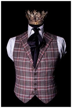 Gilet a quadri in Harrys Tweed