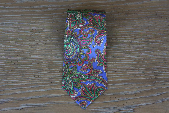 Tie cashmere design blu indigo bottom